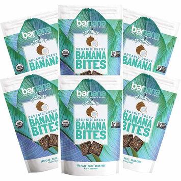 Organic Coconut Chewy Banana Bites, Delicious Barnana Coated Potassium Rich Banana Snacks, Whole 30, Paleo, Vegetarian, 3.5 Oz, Pack Of 6 [Coconut]