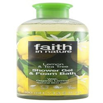Faith In Nature Lemon & Tea Tree Shower Gel & Foam Bath 400ml