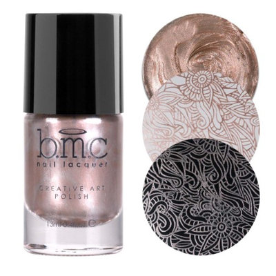BMC Snowflake Waltz Collection: Magic Hour - Champagne Pink Gold Shimmer Creative Art Stamping Polish