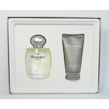 Lauder Pleasures for Men Cologne Spray 3.4 Oz and After Shave Balm 2.5 Oz Gift Set