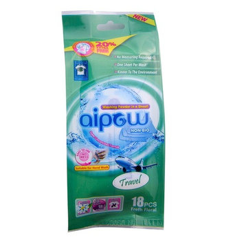 Aipow Convenience Travel Natural Fragrance Laundry Powder Sheet Soda (travel, 18 pieces)