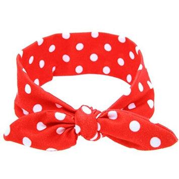 Baby Headbands, Bestpriceam Baby Girls Rabbit Bow Ear Hairband Headband Turban Knot Tie Head Wraps (Red)