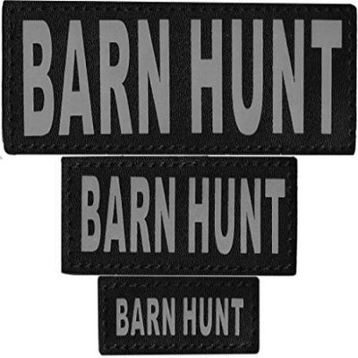 Dogline N0235-S-M Removable Velcro Patches Barn Hunt Small & Medium