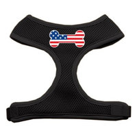 Bone Flag USA Screen Print Soft Mesh Harness Black Extra Large