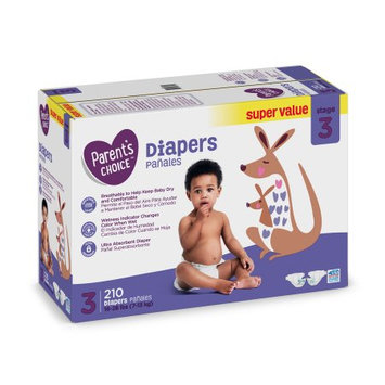 Parent's Choice Baby Diapers Size 3 Super Value Box (210 diapers)