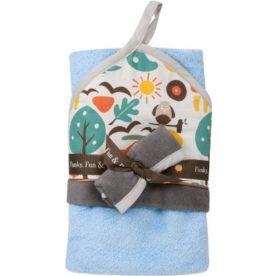 baby.JaR Hooded Towel Set, Jungle-licious (Discontinued by Manufacturer)