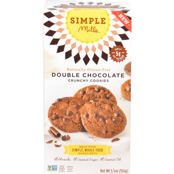 Simple Mills Crunchy Cookies Gluten Free Double Chocolate -- 5.5 oz