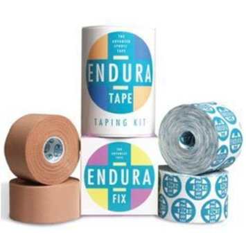 Sammons Preston Endura-Fix Adhesive Tape, 20 Rolls, for Lower Extremity, Patellofemoral, Shoulder Treatment, Sticky Rigid Tape for Realignment Physical Therapy, Muscle Support & Recovery Taping [20 Rolls]