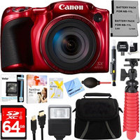 Canon PowerShot SX420 IS 20MP Digital Camera (Red) + Spare Battery & Accessory Kit