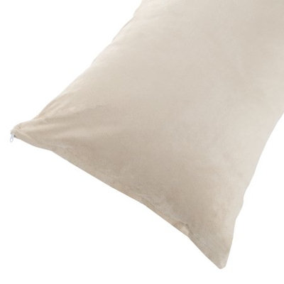 Body Pillow Cover, Soft Micro-Suede or Sherpa Pillowcase with Zipper, Fits Pillows Up To 50 Inches by Somerset Home