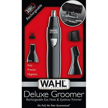 WAHL Deluxe Groomer Rechargeable Ear, Nose & Eyebrow Trimmer - Model 9865-300