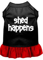 Mirage Pet Products 5816 SMBKRD Shed Happens Screen Print Dress Black with Red Sm 10