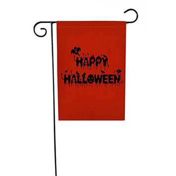 Hatop Flags, 12x18 inch Custom Halloween Weatherproof Decoration Garden Flag (L)