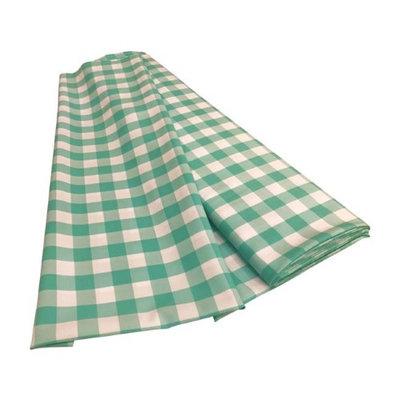 LA Linen CheckBolt-10Yrd-MintK44 10 Yards Gingham Checkered Flat Fold White & Mint