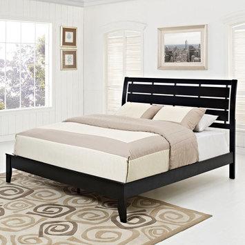 Modway Olivia Bed with Wood Slat Headboard, Multiple Sizes