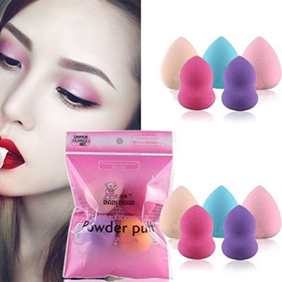 5PCS Pro Beauty Makeup Blender Foundation Puff Multi Shape Sponges