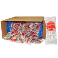 Spangler Candy Company Saf-T-Pops, Thank You Wrap, Bulk 25lb Box, 1,000 Pieces