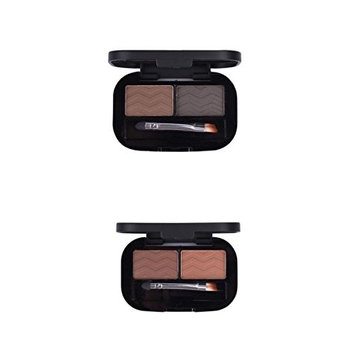 MagiDeal 2pcs 2 Colors Natural Eyebrow Powder Eyeshadow Palette Shading Kit Waterproof With Brush Mirror