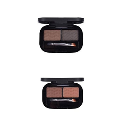 MagiDeal 2pcs 2 Colors Natural Eyebrow Powder Eyeshadow Palette Shading Kit Waterproof With Brush Mirror