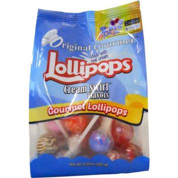 Original Gourmet Cream Swirl Flavors Lollipops, 25 count, 9.25 oz