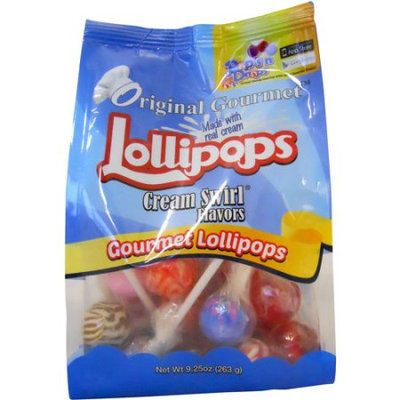 Original Gourmet Cream Swirl Flavors Lollipops, 25 count, 9.25 oz