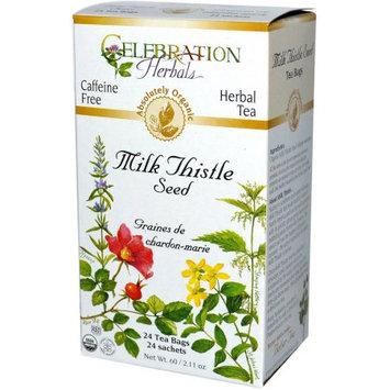 Celebration Herbals Milk Thistle Seed Herbal Tea Bags, 24 count, (Pack of 3)