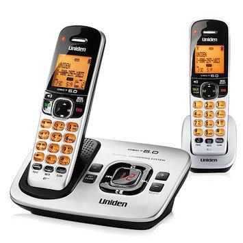 UNIDEN D1780-2 2-Handset Cordless Phone, Silver