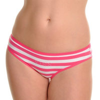 Angelina Cotton Bikini Panties with Rhinestone Kiss Design (12-Pack)