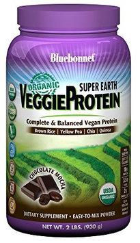 Super Earth Veggie Protein Powder Chocolate Mocha Flavor Bluebonnet 2 lb Powder