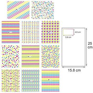 Jooniyaa New 50 Sheets 3D Design Nail Art Sticker Tip Decal Manicure