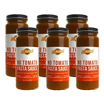 KC Natural - No Tomato Paleo AIP Pasta Sauce 16oz, (6 Pack)