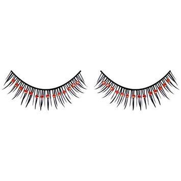 Baci Glamour Rhinestone Eyelashes, No. 593 Black-Red