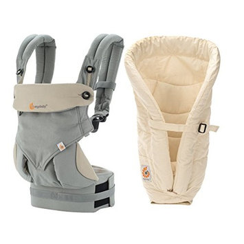 ERGObaby Four Position 360 Carrier, Grey with Natural Infant Insert
