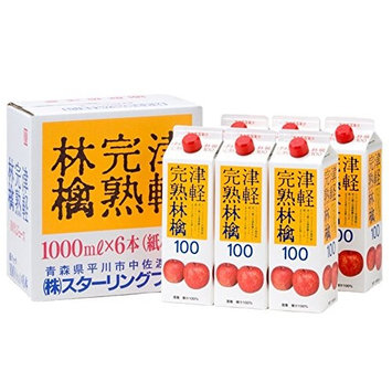 1000mlX6 this Tsugaru ripe apple juice cartons SF-E