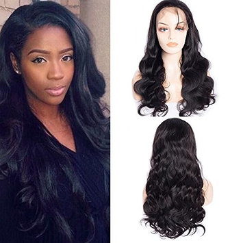 Maxine Body Wave Lace Front Wig 100% Unprocessed Virgin Human hair 180% Density Natural Hairline Brazilian Human Hair Lace Front Wig With Baby Hair for Black Women Natural Color (14inch)