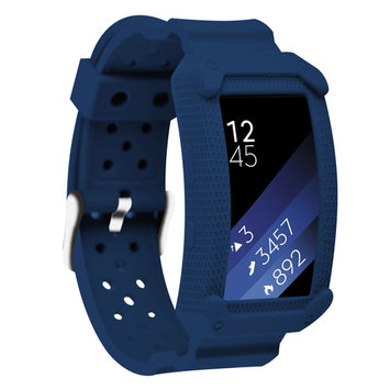 Moretek Gear Fit2 Replacement band for Samsung Gear Fit 2 & Gear Fit2 Pro Smartwatch Soprt Sweat-Resistant and Deodorant Bands (Blue)