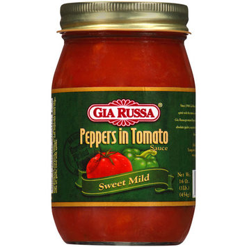Gia Russa Sweet Mild Peppers in Tomato Sauce, 16 oz