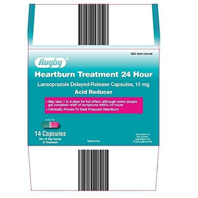 Rugby Heartburn Treatment 24H Capsules 15 MG 14 Count (6 Pack)