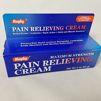 Rugby Maximum Strength Pain Relieving Cream, 3oz. Per Tube (3 Pack)