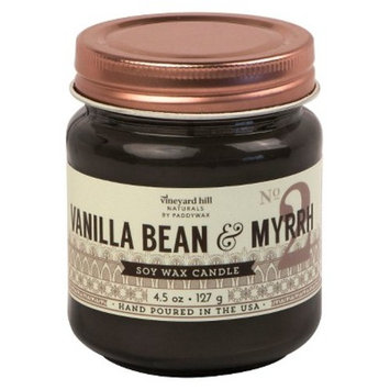 Glass Jar Candle Vanilla Bean & Myrrh 4.5oz - Vineyard Hill Naturals by Paddywax®