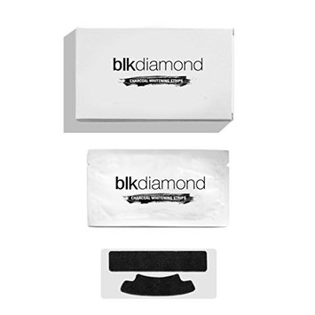 Blkdiamond - Premium Activated Charcoal Teeth Whitening Strips - Natural Coconut Charcoal - Enamel Safe for a Proven Whiter and Brighter Smile - 14 (Top and Bottom) Premium Organic Carbon Strips