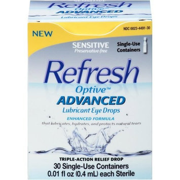 Refresh Optive Advanced Lubricant Eye Drops 30 CT (PACK OF 2)