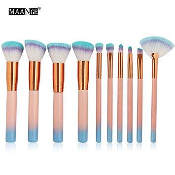 MAANGE Makeup Brushes Set 15Pcs Eye Shadow Brush Foundation Brush Powder Liquid Cream Cosmetics Brushes Kit Eye Brow Brush with Makeup Sponge and Cloth Bag (Black)