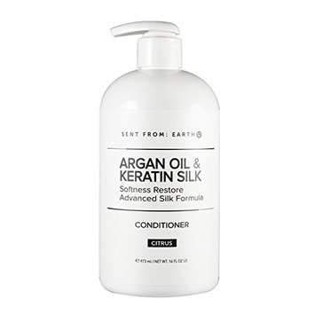 Sent From Earth - Argan Oil & Keratin Silk Softness Restore Advanced SIlk Formula Conditioner 16oz.