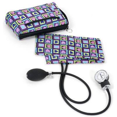 Prestige Medical 882 Premium Aneroid Sphygmomanometer with Carry Case, Four Square Hearts