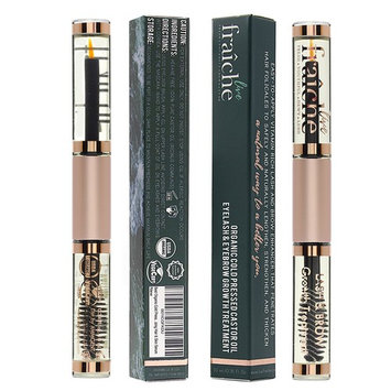(2 PACK + BONUS GIFTS) Organic Eyelash Eyebrow Growth Conditioning Treatment Castor Oil Cold Pressed - 100% Pure Certified Hexane Free w/Mascara Tube Eyeliner Brush Applicator to condition lash & brow: Beauty