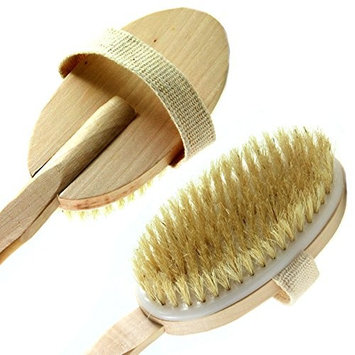 Bath & Relax New Bath Body Brush Back Scrubber Natural Bristles For Shower Exfoliating, Cleansing, Dry or Wet Skin Brushing with Long Handle Wooden - Back Shower Skin Brush. For Men and Women