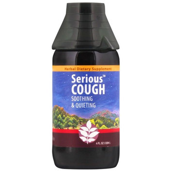 WishGarden Herbs - Serious Cough, Organic Herbal Cough Suppressant Supplement, Soothes and Calms Common Throat and Bronchial Irritation (4 oz Jigger)