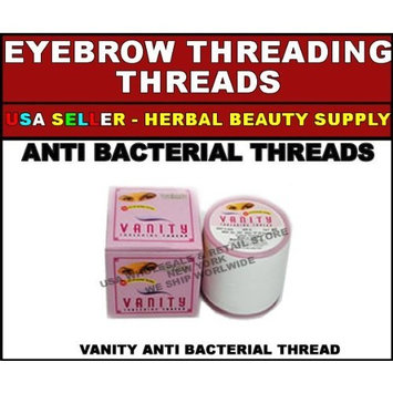 100 SPOOLS OF VANITY ANTI BACTERIAL EYEBROW FACE THREADING THREADS by Vanity