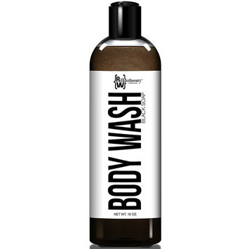 Liquid African Black Soap Body Wash and Shampoo, 100% All Natural by Raw Apothecary- Cruelty Free (16 Ounces)
